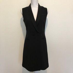 Halogen Tuxedo Dress, Sleeveless, Black